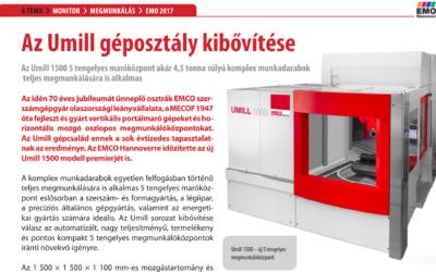 A TECHMONITOR cikke a UMILL 1500 gépről